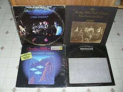 Crosby, Stills, Nash & Young Collection Of Four Albums Five Lps # 2