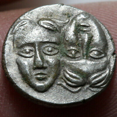 Ancient Greek Silver coin MOESIA, Istros. Circa 4th Century BC
