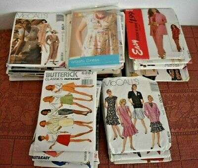 LOT F~ 45 VINTAGE 1990's SEWING PATTERNS Simplicity McCalls Butterick Women