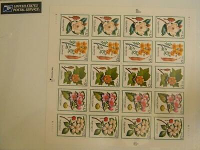 1997 USPS FLOWERING TREES FULL PANE 20 x.32 3193-97