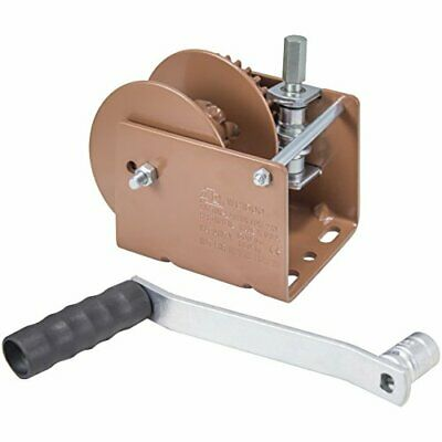 Heavy Duty Worm Gear Winch with Hex Drive for Lifting Heavy Loads - 1500lbs Cap