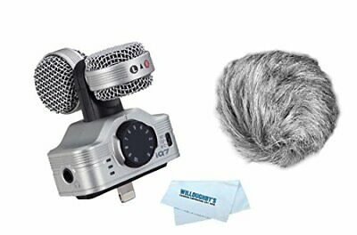 Audio Recorder w/ Mid-Side Stereo Microphone For iOS Devices w/ Hairy Windscreen