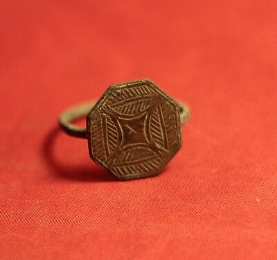 Medieval Seal Ring, Finger Ring, 12. Century