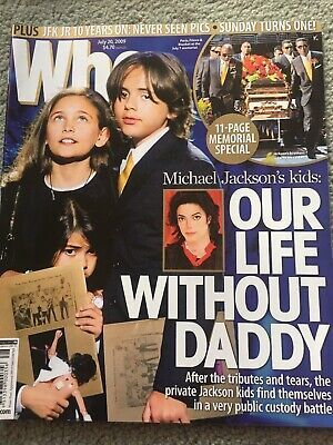 Who Magazine July 20th 2009 Michael Jackson Memorial Special