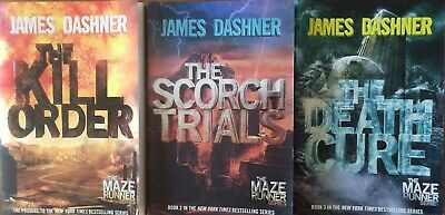 "Lot Of 3 ""Maze Runner Series"" Books By James Dashner"