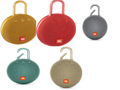 New Sealed JBL Clip 3 Rechargeable Waterproof Portable Bluetooth Speaker