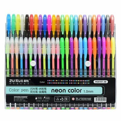 Glitter gel pens pack of 12 to 48 Drawing Art, Craft & Colouring-In