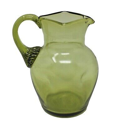 19 Century Antique Green Glass Jug (ANT117-)