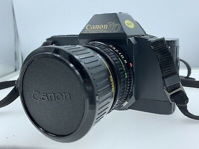 Canon T70 35mm Film Camera With Zoom Lens FD 35-70mm 3.5-4.5 + Accessories+Case