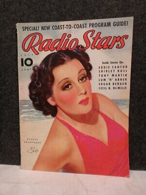 Vintage July 1937 Radio Stars Magazine Gladys Swarthout Cover By Earl Christy