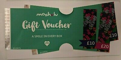 Moshulu gift vouchers £39 valid until 21.09.2020