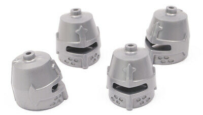 Lego 10x Helmet closed with Eye Slit pearl dark gray 89520 Lot of 10 part pieces