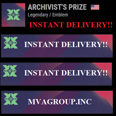 Destiny 2 ARCHIVIST'S PRIZE EMBLEM PS4/Xbox One/PC  - INSTANT DELIVERY!!