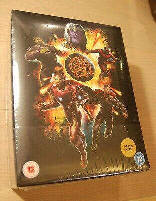 Avengers Endgame Collectors Edition 3D Blu Ray Steelbook UK Ltd Ed NEW SEALED