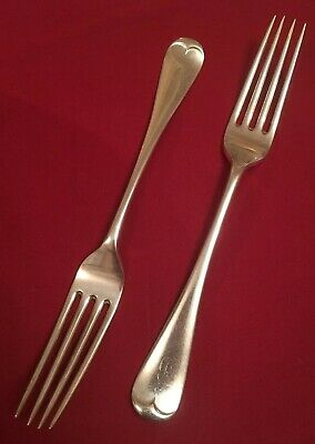 Pair Of Antique Silver Plated Dinner Forks By Martin, Hall & Co. c.1880's