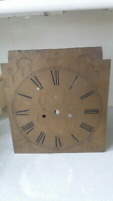 Antique Brass  Grandfather Clock Face / Dial- 13 X 12 Inches