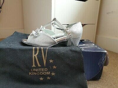 Girls Roch Valley RV ballroom/latin dance shoes uk size 2