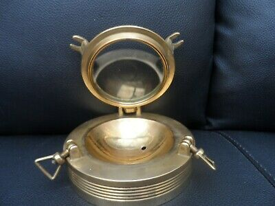Antique vintage Nautical Maritime porthole type with brass back