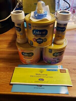 Lot of Enfamil NeuroPro Formula with nipple Extras 2 ready to feed