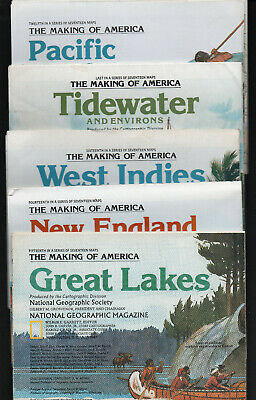 Collection of 107 National Geographic maps, countries, historical, climate,etc