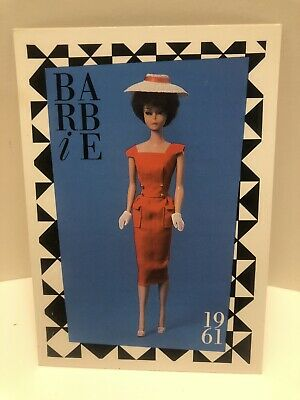 """Barbie Collectible Fashion Trading Card  /"""" Braniff Cocktail Hour /""""  1967"""