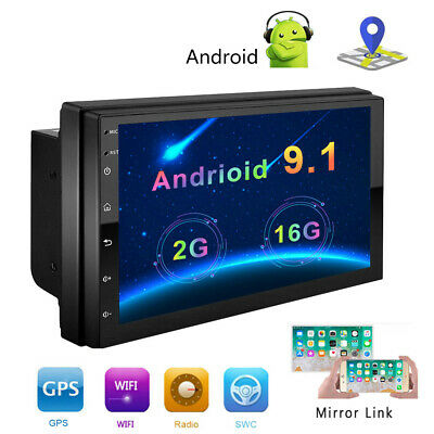 """2+16G Android 9.1 Car MP5 Player Radio GPS Navi WiFi 7"""" 2DIN Quad Core Stereo"""