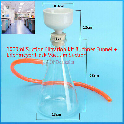 1000ml Laboratory Glass Vacuum Suction Filter Glass Flask Filtration Funnel