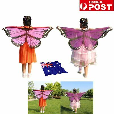Scarf Kid's Butterfly Wings Print Shawl Girl Boy Clothes Accessory Costume IN