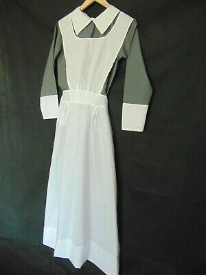 """VICTORIAN EDWARDIAN KITCHEN MAID DRESS & APRON house keeper made for men 36-40"""""""