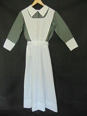 """VICTORIAN EDWARDIAN KITCHEN MAID DRESS & APRON house keeper made for men 40 """" 44"""