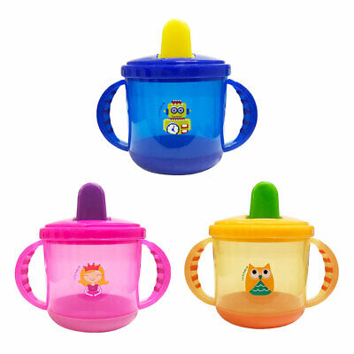 Baby Spout Sippy Cup With Handle Transition Trainer Cup For nfant Toddlers E9J9