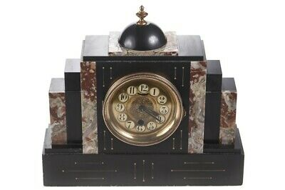 Victorian Slate & Marble Mantle Clock
