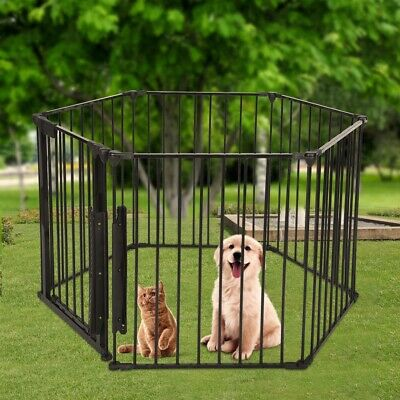 Dog Pet Playpen Heavy Duty Metal Exercise Fence Yard Play Cage Kennel Fence USA