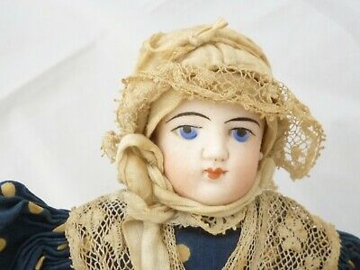 """Antique 10"""" doll French reginal costume bisque head late 19th century FG type"""