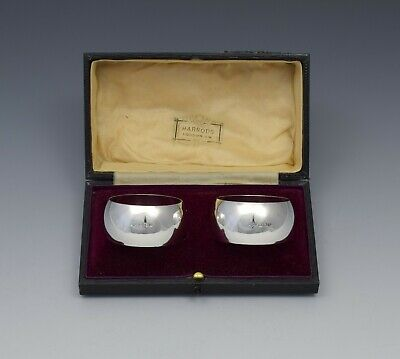 Pair George V Silver Napkin Rings Hutton & Sons 1912