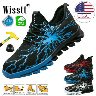 Mens Steel Toe Cap Work Boots Winter Sneakers Indestructible Safety Shoes Sports