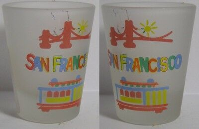 San Francisco Attractions Shot Glass #4374