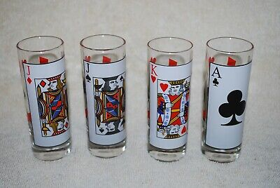 Double Shot Glasses - playing cards motif (4)