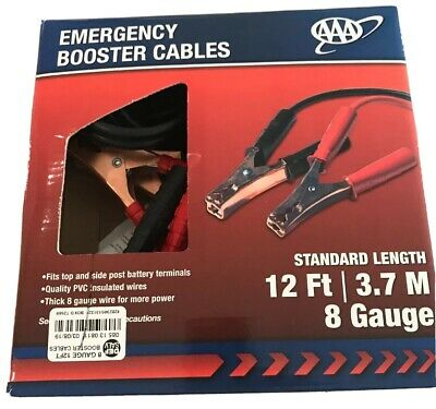 AAA 4324AAA Medium Duty 12' 8 Gauge Booster Cable Jumper Cables