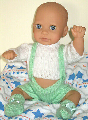 "Chicco Baby Boy Doll 18"" Anatomically Correct Toy Knitted Clothes Vintage Dolly"