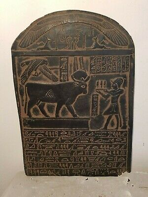 Rare Antique Ancient Egyptian Stela God Hathot Horus Anbid Scarab Ame1427–1401BC