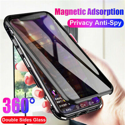 For iPhone X XS Max XR 87 Case+Privacy Anti-Spy Tempered Glass Screen Protector
