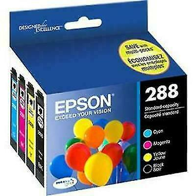 Epson DURABrite Ultra 288 Ink Cartridges Combo Pack - Black, Yellow, Cyan,...