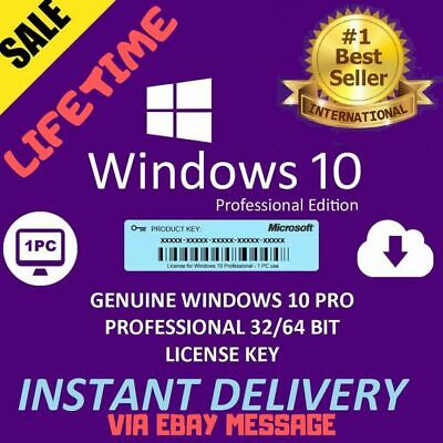 Microsoft Windows 10 Pro Professional 32/64 Bit License Key 🔥 Instant Delivery