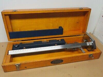 "Chesterman 18"" / 450mm Vernier Height Gauge Complete In Box VGC ME2624"