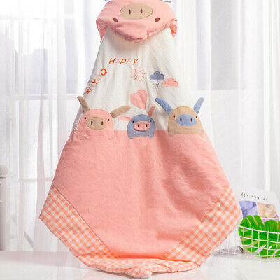 Cartoon Baby Swaddling Infant Swaddle Wrap Newborn Cotton Blanket Quilt Z