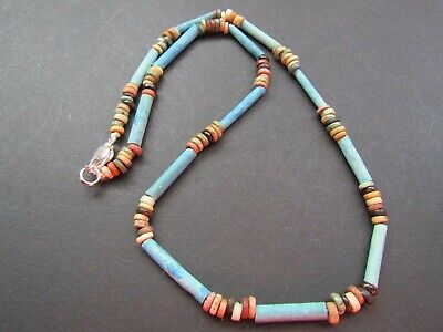 NILE Ancient Egyptian Amulet Mummy Bead Necklace ca 600 BC