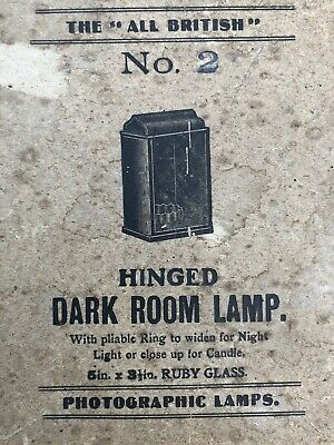 Red Safe Light Candle Powered Vintage Photography Darkroom