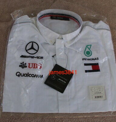 Mens White Team Shirt S 44/46 BNIP from AMG Petronas Motorsport F1 Mercedes Benz
