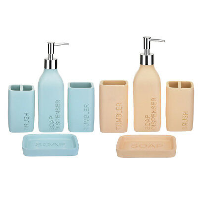 Perfect Bath 4PCS Set Toothbrush Holder Tumbler Cup Soap Dish Lotion Dispenser